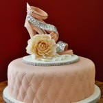 Rhinestones Heel and Rose Cake