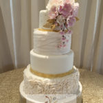 wedding fondant cake sugar flowers
