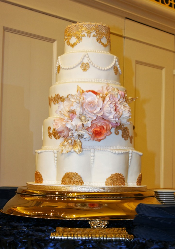 Moroccan Contemporary Wedding Fondant Cake