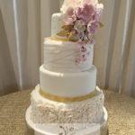 wedding fondant cake sugar flowers