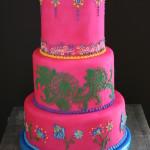 fondant henna style cake